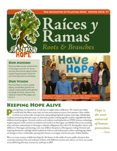Planting Hope's Winter Newsletter is now available. Click here to read it.