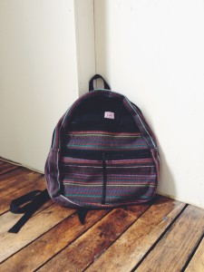 Hand-Woven Backpack, $30