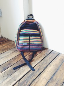 Hand-woven backpack, $25.
