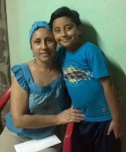 Juana and her son Christopher at their home in San Ramon.